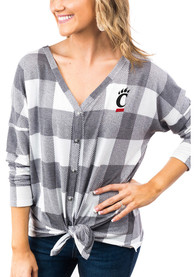 Cincinnati Bearcats Womens Gameday Couture Check Your Facts Dress Shirt - White
