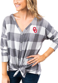 Oklahoma Sooners Womens Gameday Couture Check Your Facts Dress Shirt - White