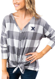 Xavier Musketeers Womens Gameday Couture Check Your Facts Dress Shirt - White