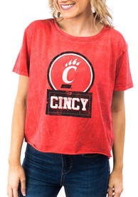 Cincinnati Bearcats Womens Gameday Couture Keep It Cropped T-Shirt - Red