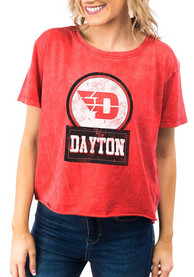 Dayton Flyers Womens Gameday Couture Keep It Cropped T-Shirt - Red