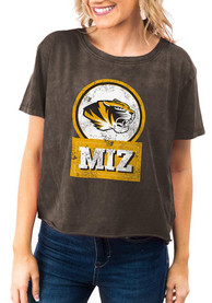 Missouri Tigers Womens Gameday Couture Keep It Cropped T-Shirt - Black