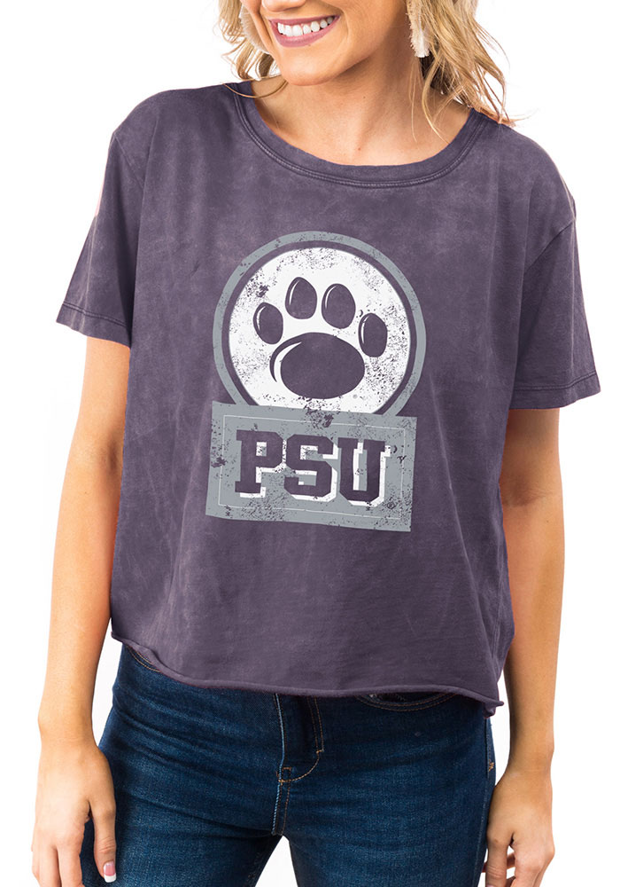 Gameday Couture Penn State Nittany Lions Womens Navy Blue Keep It Cropped Short Sleeve T-Shirt - Image 1