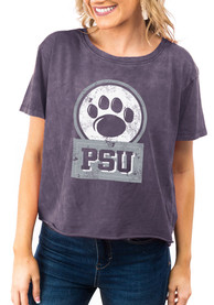 Penn State Nittany Lions Womens Gameday Couture Keep It Cropped T-Shirt - Navy Blue