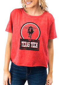 Texas Tech Red Raiders Womens Gameday Couture Keep It Cropped T-Shirt - Red