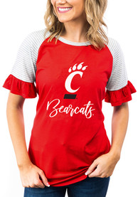Cincinnati Bearcats Womens Gameday Couture Down the Line T-Shirt - Red