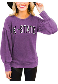 K-State Wildcats Womens Gameday Couture Good Going Crew Sweatshirt - Purple
