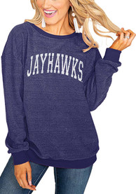 Gameday Couture Kansas Jayhawks Womens Its a Date Blue Crew Sweatshirt