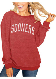 Gameday Couture Oklahoma Sooners Womens Its a Date Crimson Crew Sweatshirt