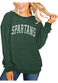Gameday Couture Michigan State Spartans Womens Its a Date Grey Crew Sweatshirt
