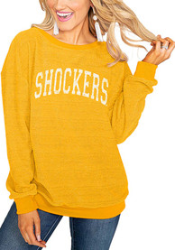 Gameday Couture Wichita State Shockers Womens Its a Date Black Crew Sweatshirt