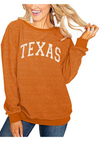 Texas Longhorns Womens Gameday Couture Its a Date Crew Sweatshirt - Burnt Orange