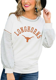 Texas Longhorns Womens Gameday Couture Line it Up T-Shirt - White