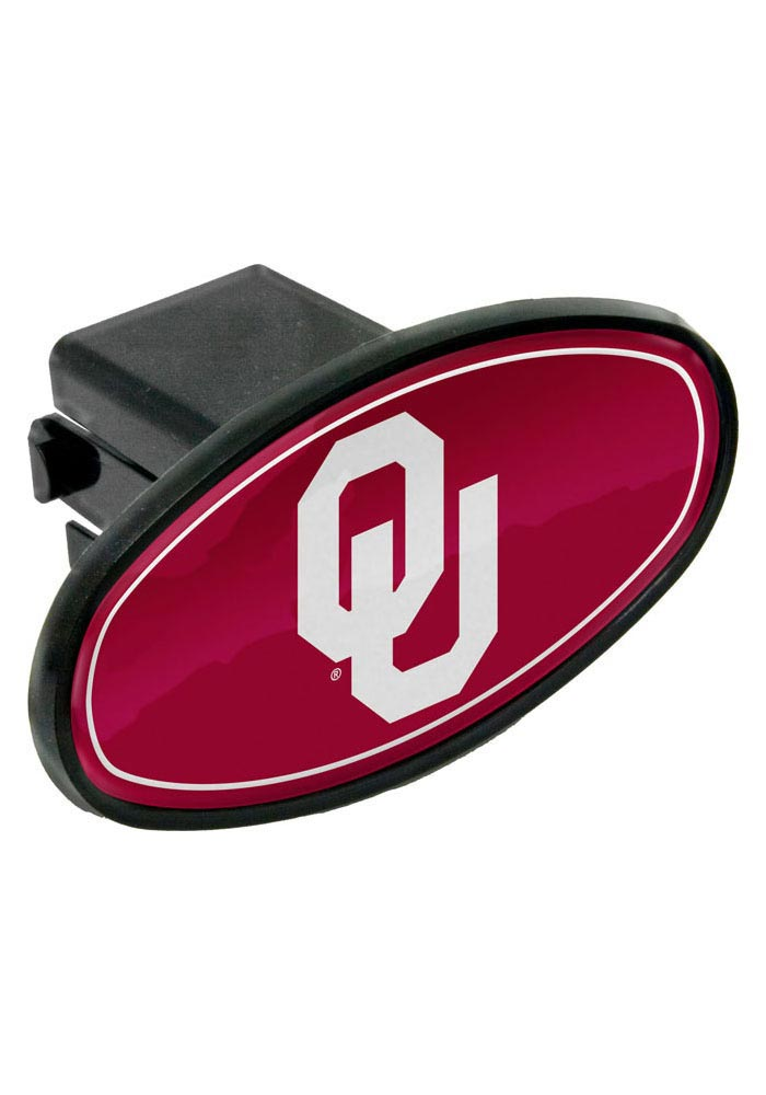 Oklahoma Sooners Plastic Oval Car Accessory Hitch Cover - Image 1
