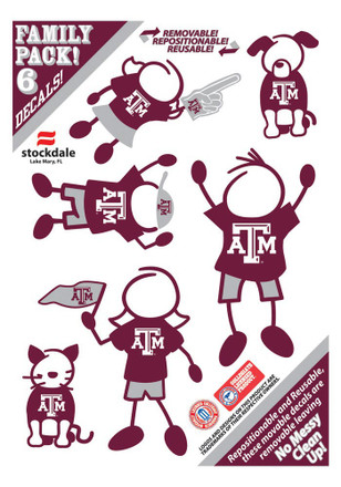 Texas A&M Aggies Family Pack Decal