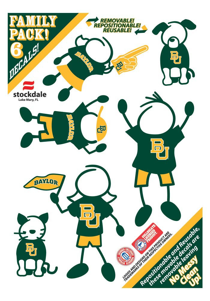 Baylor Bears 5x7 Family Pack Decal - Image 1