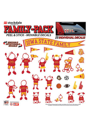 Iowa State Cyclones 12x12 Family Pack Decal