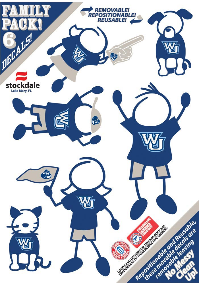 Washburn Ichabods 5x7 Family Pack Auto Decal - Navy Blue