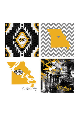 Missouri Tigers 4 Pack Art Coasters Coaster