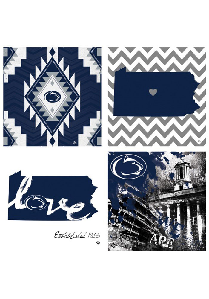 Penn State Nittany Lions 4 Pack Art Coasters Coaster - Image 1