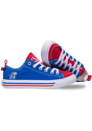 Kansas Jayhawks Blue Low Top Mens Shoes