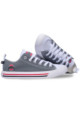 Ohio State Buckeyes Red Low Top Mens Shoes