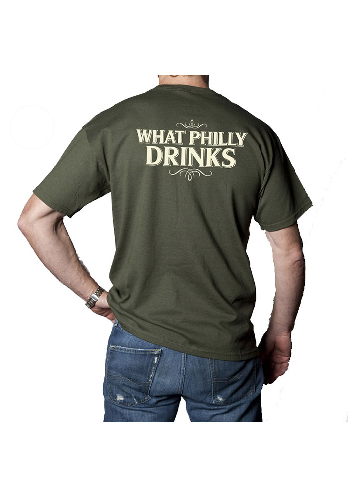 Yards Brewing Philadelphia Green What Philly Drinks Short Sleeve T Shirt - Image 2