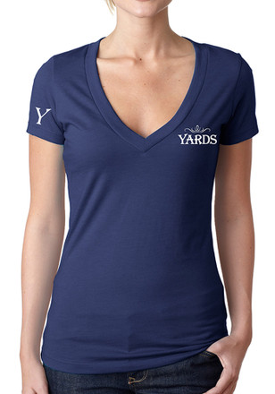 Yards Brewing Co. Women's Navy Signature V-Neck Short Sleeve Tee
