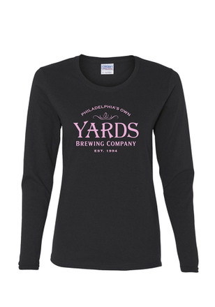 Yards Brewing Co. Women's Black Philadelphia's Own Long Sleeve Tee