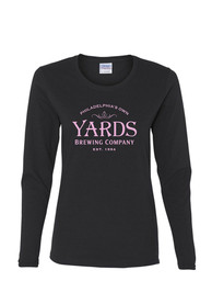 Yards Brewing Philadelphia Womens Black Logo Long Sleeve T Shirt