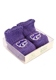 K-State Wildcats Baby Knit Bootie Boxed Set - Purple