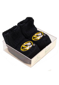Missouri Tigers Baby Knit Bootie Boxed Set - Black