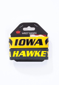 Iowa Hawkeyes Kids 2pk Bulky Bands Bracelet - Black