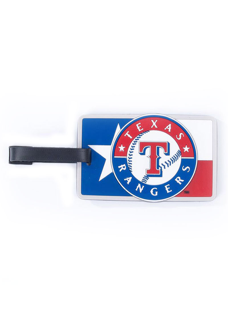 Texas Rangers Blue Rubber Luggage Tag - Image 1