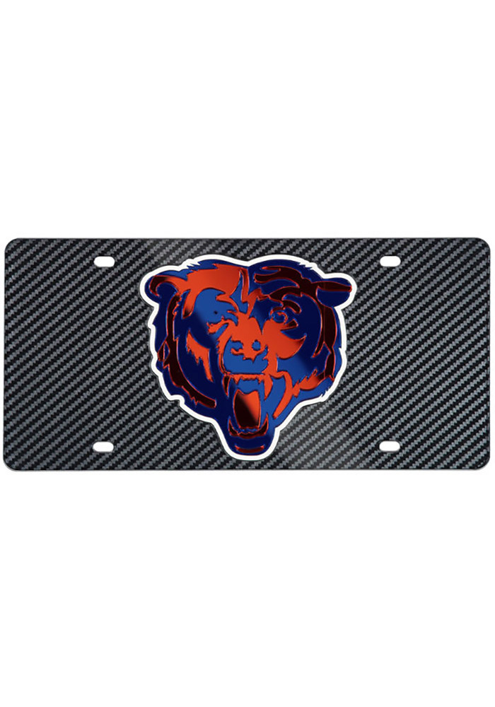 Chicago Bears Carbon Car Accessory License Plate