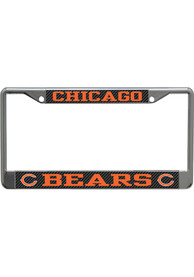 Chicago Bears Carbon License Frame