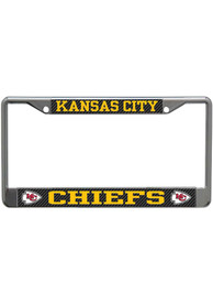 Kansas City Chiefs Carbon License Frame