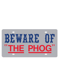 Kansas Jayhawks Beware of The Phog Car Accessory License Plate