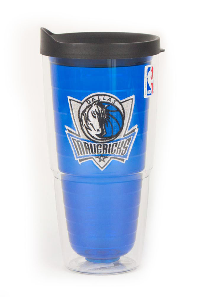 Dallas Mavericks 24oz Blue Tumbler - Image 1