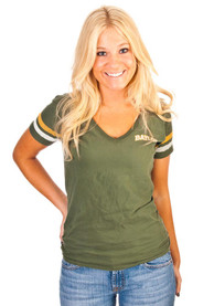 47 Baylor Bears Juniors Green Post Season V-Neck