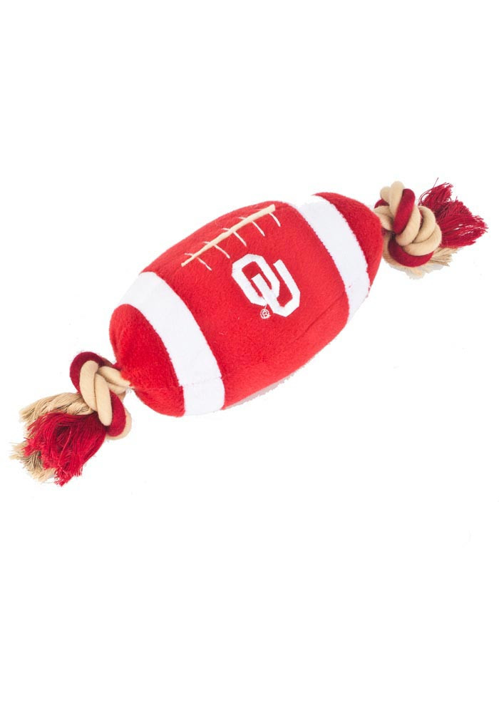 Oklahoma Sooners Football Shaped Pet Toy - Image 1