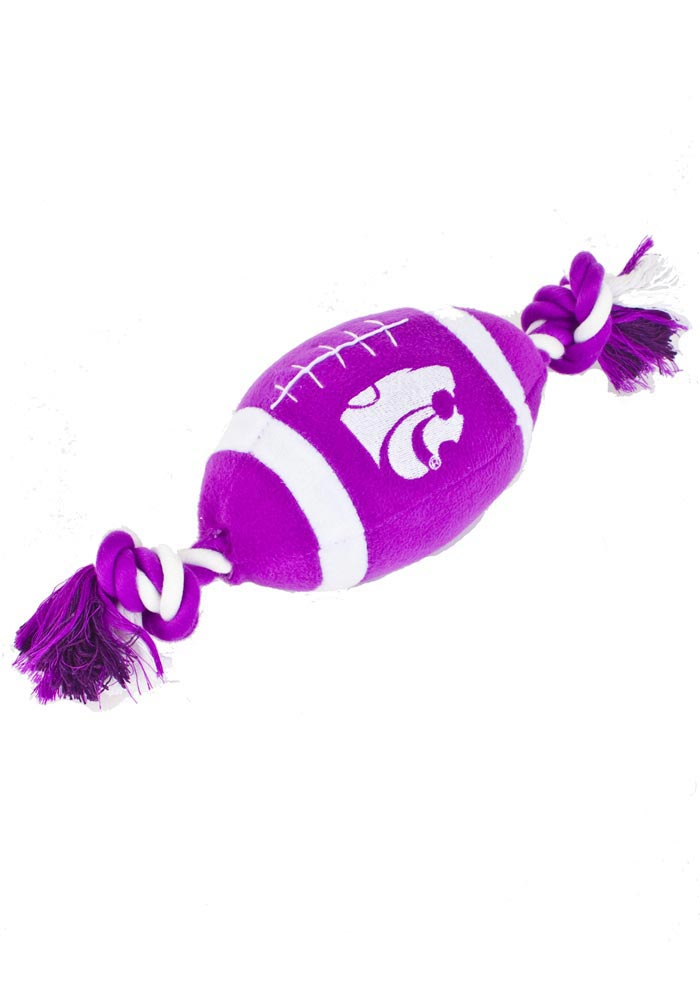 K-State Wildcats Football Shaped Pet Toy - Image 1