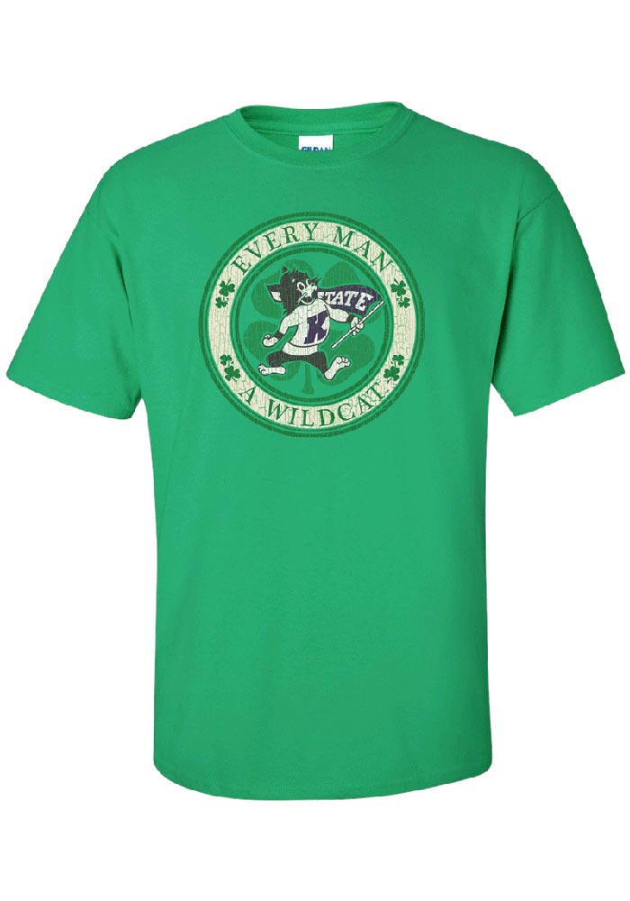 K-State Wildcats Green Circle Short Sleeve T Shirt - Image 1
