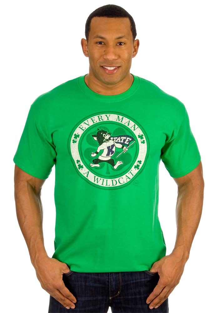 K-State Wildcats Green Circle Short Sleeve T Shirt - Image 2
