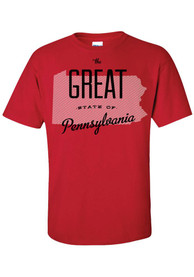 Pennsylvania Red The Great State Of Short Sleeve T Shirt