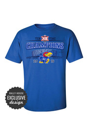 KU Jayhawks Mens Blue Stadium Tee