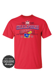 KU Jayhawks Mens Red Stadium Tee