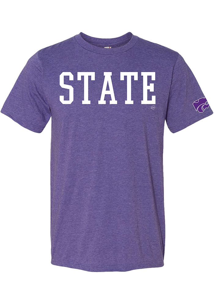 K-State Wildcats Purple State Mark Short Sleeve T Shirt - Image 1