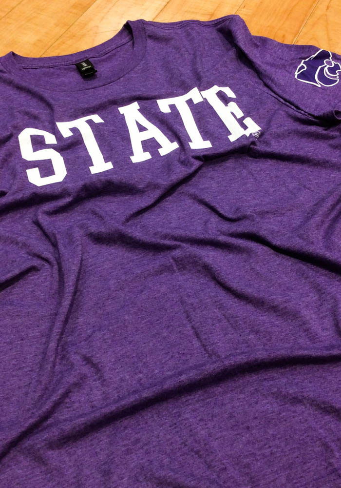 K-State Wildcats Purple State Mark Short Sleeve T Shirt - Image 2