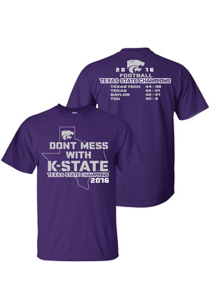 K-State Wildcats Mens Purple Texas State Champions Tee